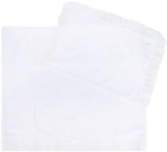 MonnaLisa Broderie Anglaise Trim Blanket Set