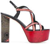Jean-Michel Cazabat platform dotted heel sandals