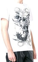 Just Cavalli Men's Rope and Phoenix Graphic Short Sleeve Tee White T-Shirt LG (US MD)