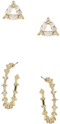 Ettika Hoop & Stud Set of 2 Earrings