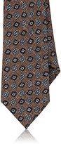 Isaia Men's Medallion-Pattern Necktie-TAN
