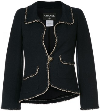 Chanel Pre Owned Trimmed Detailing Blazer