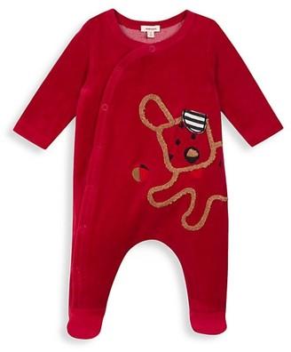 Catimini Baby Boy's Velvet Pajama Romper