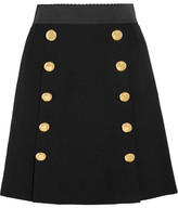 Dolce & Gabbana Stretch-wool Crepe Mini Skirt - Black