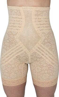 Rago Shapewear Women's Plus-Size Hi Waist Long Leg Shaper