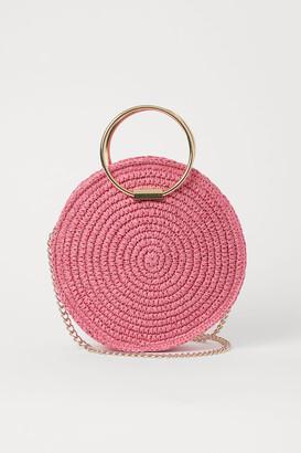 H&M Round Straw Shoulder Bag