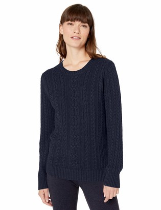 Amazon Essentials Women's Fisherman Cable Long-Sleeve Crewneck Sweater