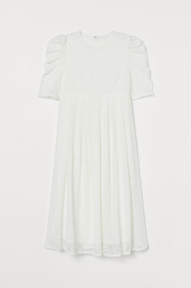 H&M MAMA Lace Dress - White