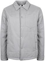 Topman Grey Padded Coach Jacket