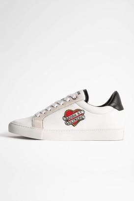 Zadig & Voltaire ZV1747 Heart patch Sneakers