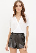 Forever 21 Sequined-Front Shorts