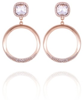 T Tahari Pave Fire Essential Front Facing Hoop Earring