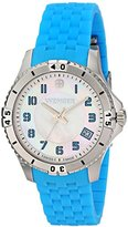Wenger Women's 0121.102 Analog Display Swiss Quartz Blue Watch