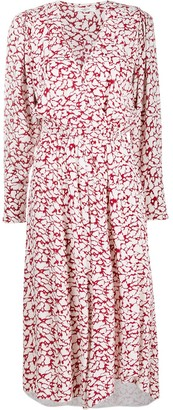 Etoile Isabel Marant Abstract Leopard Print Wrap Dress