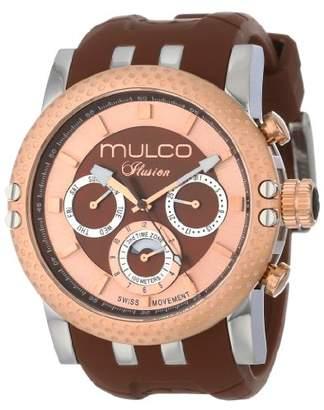 Mulco Lincoln Illusion Swiss Chronograph Analog Watch Multifunctional Movement - Silicone Band ()