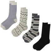 Lucky Brand Fair Isle Crew Cut Socks - Pack of 4