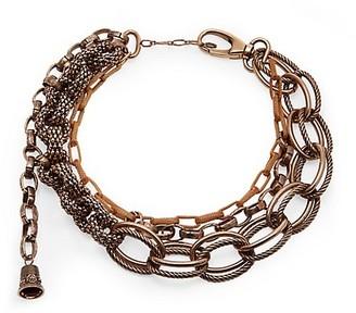 Alexander McQueen Antique Goldtone Multi-Chain Mesh Necklace