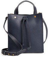 Madewell Small Trick Leather Top Handle Tote - Blue