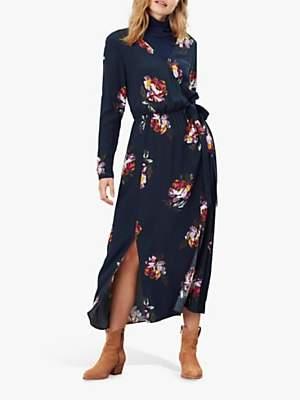 Joules Chloe Fixed Wrap Dress, Navy Peony