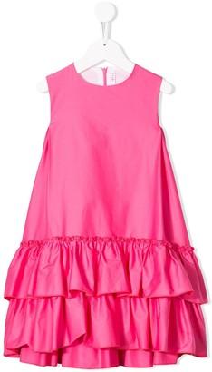 Il Gufo Sleeveless Ruched Dress