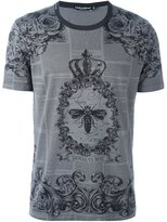 Dolce & Gabbana crown & bee printed T-shirt