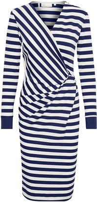 InWear Fillucca Striped Stretch Dress - S - White/Blue