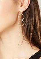 Bebe Double Circle Drop Earrings