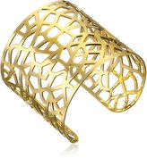 A.V. Max Plated Abstract Cuff Bracelet