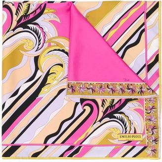 Emilio Pucci Guanabana print square scarf