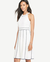 Ann Taylor Piped Halter Dress