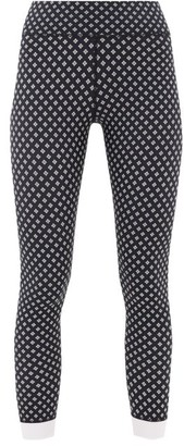 The Upside Cravat Stretch-jersey Leggings - Womens - Black White