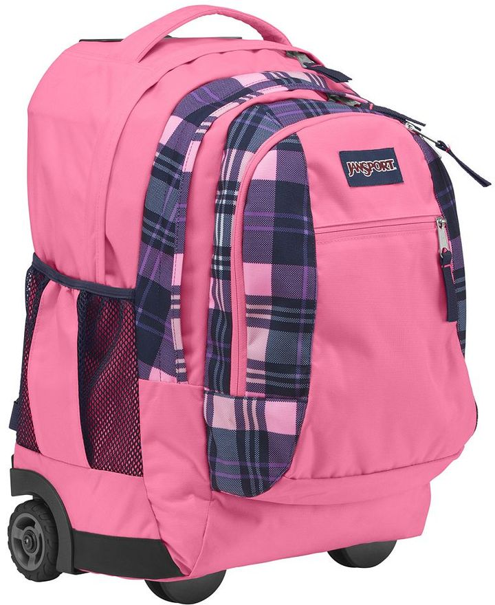 JanSport driver 8 prestion plaid wheeled 15-in. laptop backpack