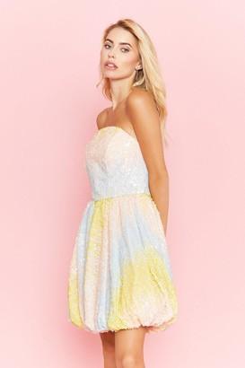 Coast Sequin Bandeau Puffball Dress