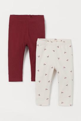 H&M 2-pack Leggings - Red