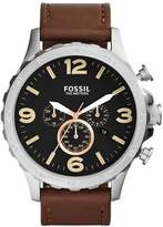 Fossil Men's JR1475 Nate Chronograph Leather Watch