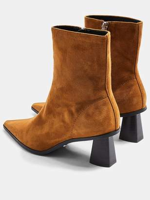 Topshop Maile Point Toe Boots - Tan