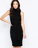 Wal G Midi Dress With Roll Neck