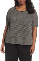 Eileen Fisher Plus Size Women's Organic Linen Stripe Sweater