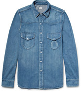 Chimala Slim-Fit Distressed Denim Western Shirt