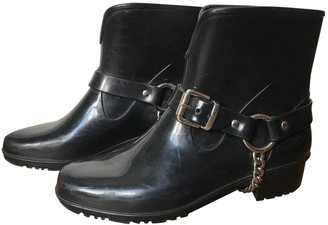 Marc by Marc Jacobs Black Rubber Boots