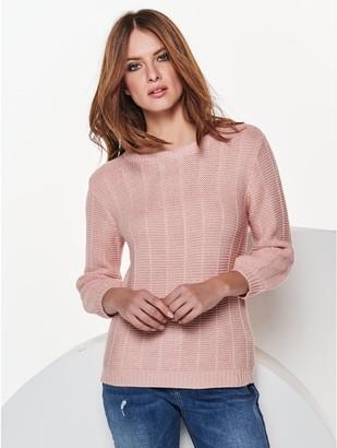 M&Co Petite ribbed jumper