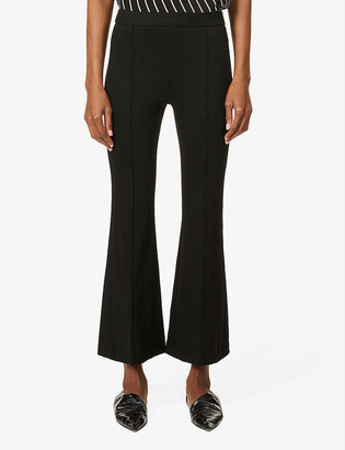 Rosetta Getty Flared mid-rise stretch-woven trousers