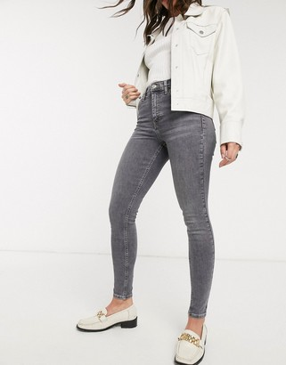 Topshop Jamie jeans in grey