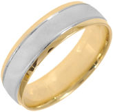 JCPenney MODERN BRIDE 10K Two-Tone Gold Womens Polished & Matte 5mm Wedding Band