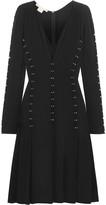 Antonio Berardi Embellished stretch-jersey crepe dress
