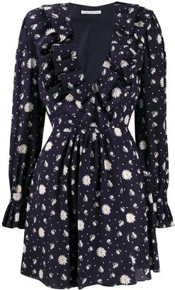 Alessandra Rich Floral Print Mini Dress
