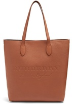 Burberry Logo-embossed leather tote bag