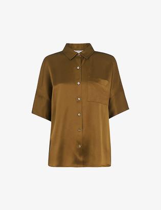 Whistles Relaxed silk-satin shirt