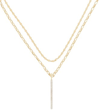 ela rae Layered Bar Necklace