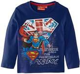 Marvel Boy's Superman Crew Neck Long Sleeve Top